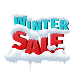 Winter sale 3d vector inscription on white Stock Image