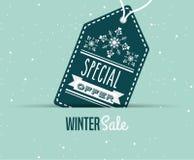 Winter sale design Royalty Free Stock Image