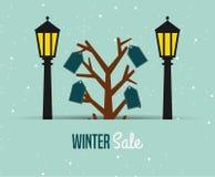 Winter sale design Stock Photo