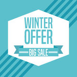 Winter sale design Royalty Free Stock Images