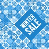 Winter sale advertise design Royalty Free Stock Photography