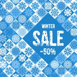 Winter sale advertise design Stock Images