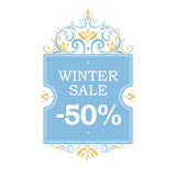Winter  sale -25% discount banner. Stock Images