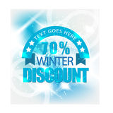 Winter sale or discount banner Stock Photography