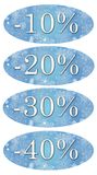 Winter sale discount labels Royalty Free Stock Photos