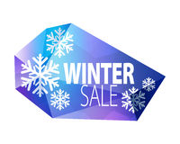 Winter sale faceted glass icon. Stock Image