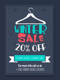 Winter Sale flyer or banner. Creative Winter Sale flyer, banner or template with 20% discount offer Royalty Free Stock Image