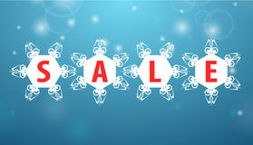 Winter sale four snowflake royalty free illustration