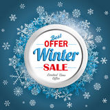 Winter Sale Friday Snowflakes Blue Background Royalty Free Stock Photography
