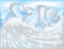 Winter sale greeting card Royalty Free Stock Image