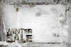 Winter Sale Grunge Background