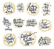 Winter 50 Sale and Happy Valentine s Day Labels Royalty Free Stock Photos