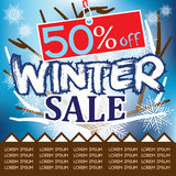 Winter Sale is here Stock Images