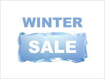 Winter sale ice bar banner Stock Photography