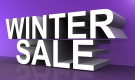 Winter sale illustration. An illustration of a 3D text with the words winter sale Royalty Free Stock Photo
