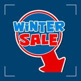 Winter sale - information sign Stock Photography