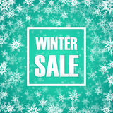 Winter sale inscription on background. With snowflake. Vector illustration. EPS 10 Stock Photo
