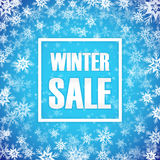 Winter sale inscription on background. With snowflake. Vector illustration. EPS 10 Royalty Free Stock Image