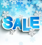 Winter sale inscription. Stock Photo