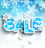 Winter sale inscription in paper style. Stock Photo
