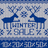 Winter sale knitted seamless pattern or background Royalty Free Stock Photography