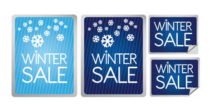 Winter sale label Stock Image