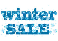 Winter sale label. Label of winter sale with snowflakes Royalty Free Stock Image