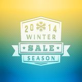 2014 Winter Sale Label On Blurred Vector Royalty Free Stock Photos