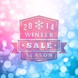 2014 Winter Sale Label On Blurred Vector Royalty Free Stock Images