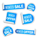 Winter Sale Labels Royalty Free Stock Images