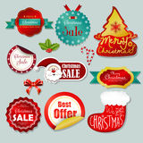 Winter Sale Labels Stock Image