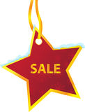 Winter sale labels star hanging Stock Image