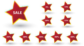 Winter sale lables Royalty Free Stock Photography