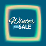 Winter sale lights frame Royalty Free Stock Images