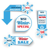 Winter Sale Markers Snowflakes Royalty Free Stock Photography