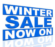 Winter Sale Means At The Moment And Currently Stock Photography