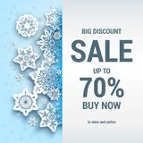 Sale winter card Stock Images