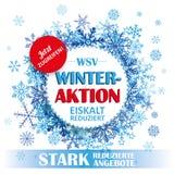 Winter Sale Paper Circles Tab Stock Photo