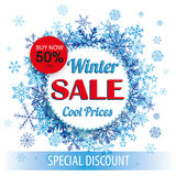 Winter Sale Paper Circles Tab Stock Photography