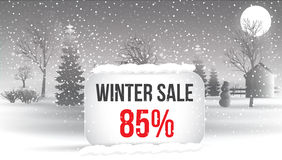 Winter sale 5 percent. Big winter sale poster with snowflakes. c Stock Images