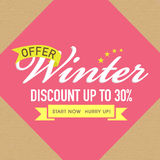 Winter Sale poster, banner or flyer design. Stock Photo
