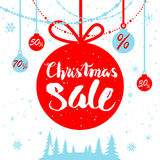 Winter sale poster. Big Christmas sale. Seasonal sale background for banners, advertising, leaflet, cards, invitation and so on Royalty Free Stock Image