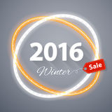 Winter 2016 Sale Poster Stock Photography