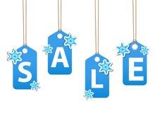 Winter sale poster. Christmas sale invitation template Stock Image