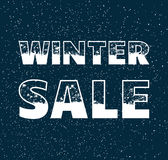 Winter sale poster Stock Photo