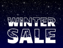 Winter sale poster Royalty Free Stock Photography
