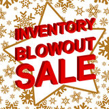 Winter sale poster with INVENTORY BLOWOUT SALE text. Advertising vector banner Stock Image
