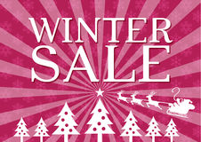 Winter Sale poster Stock Images