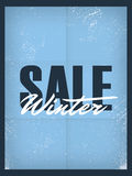 Winter sale poster template. Discounts and special Stock Image