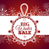 Winter sale poster. Vector illustration. Royalty Free Stock Photos